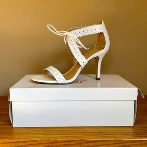 Joe Fresh White Sandal Heels, Size 7